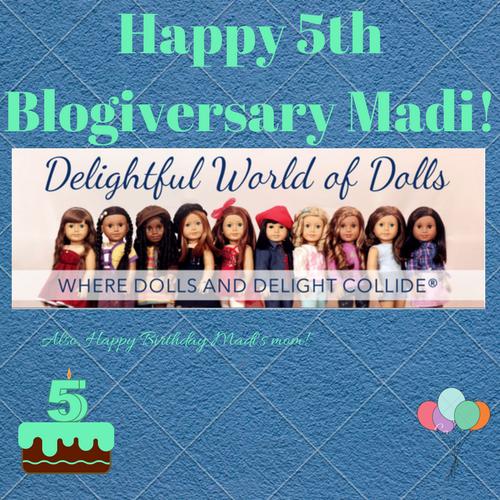 Happy 5th Blogiversary Madi!