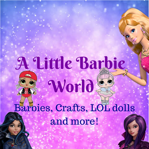 A Little Barbie World button