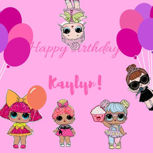 Happy birthday, Kaylyn!